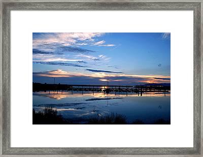 Salt Lake Marina Sunset Framed Print by Matt Harang