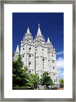 Salt Lake Mormon Temple Framed Print by Charline Xia