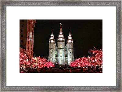Framed Print featuring the photograph Salt Lake Temple - 1 by Ely Arsha