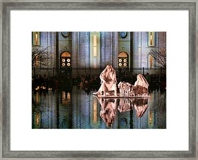 Framed Print featuring the photograph Salt Lake Temple - 2 by Ely Arsha