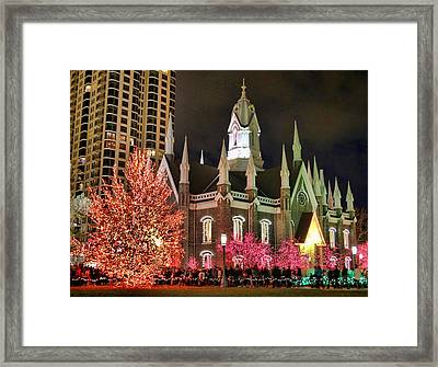 Framed Print featuring the photograph Salt Lake Temple - 3 by Ely Arsha