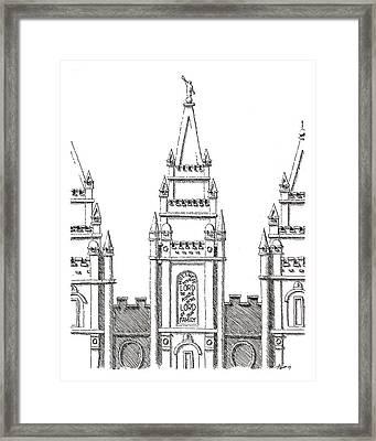 Salt Lake Temple Framed Print by Aaron Bodtcher