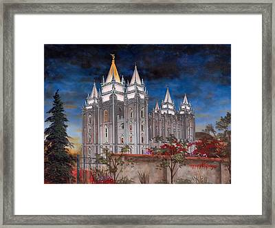 Salt Lake Temple Framed Print by Jeff Brimley