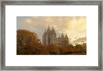 Salt Lake Temple Ultra High Resolution Framed Print by Dustin  LeFevre