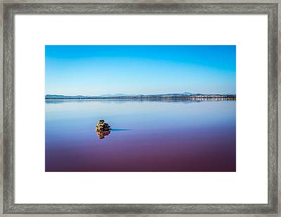 Framed Print featuring the photograph Salt Lake Torrevieja. by Gary Gillette