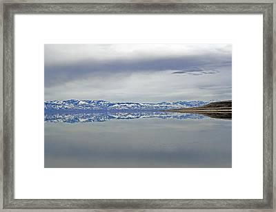 Salt Lake Winter Framed Print