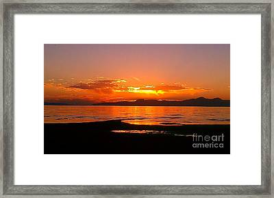 Framed Print featuring the photograph Salt Lakes A Fire by Chris Tarpening