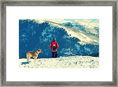 Salt Lake City Avalanche Dog And Rescue Team Framed Print