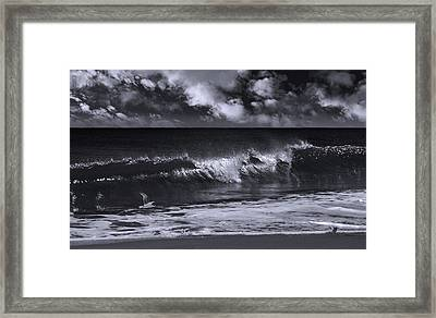 Salt Life Morning Bw Framed Print by Laura Fasulo