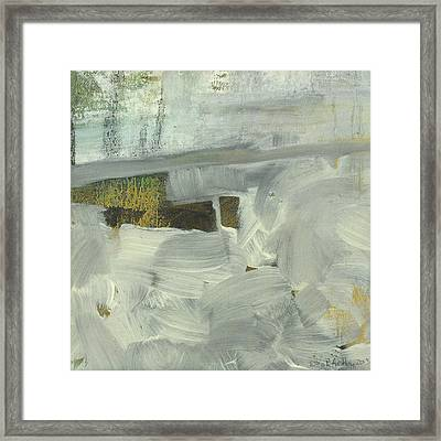 Framed Print featuring the painting Salt Marsh C2013 by Paul Ashby