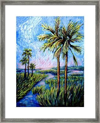Salt Marsh Palms Framed Print