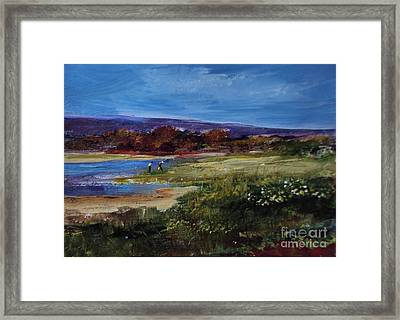 Salt Marsh Series 2 Framed Print by Diane Ursin