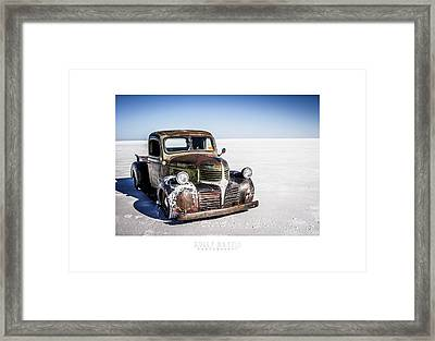 Salt Metal Pick Up Truck Framed Print