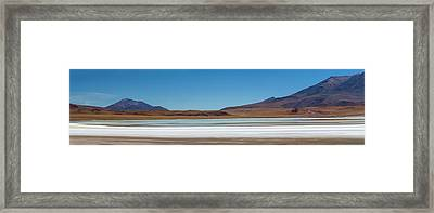 Salt Rings The Shore Of Laguna Honor Framed Print by Panoramic Images