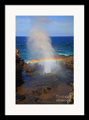 Blowhole Framed Prints