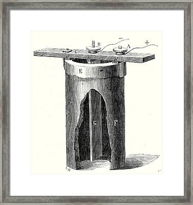 Salt Water Battery Of M Framed Print by English School