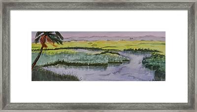 Salt Water Cowboys Framed Print by Warren Thompson