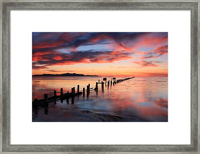 Saltair Sunset Framed Print by Johnny Adolphson