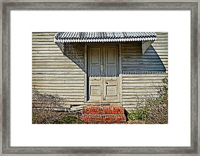 Framed Print featuring the photograph Salters Doorway by Linda Brown