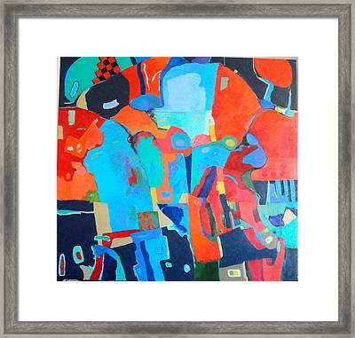 Framed Print featuring the painting Saltillo Summers 2 by Bernard Goodman