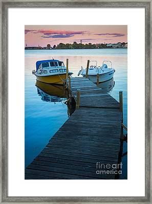 Salto Boats Framed Print by Inge Johnsson