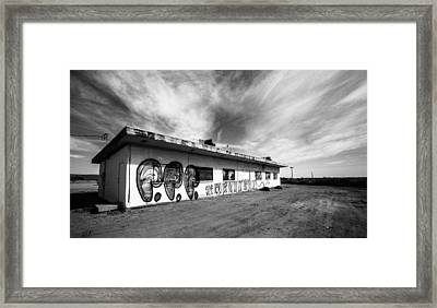 Framed Print featuring the photograph Salton Sea Cafe by Robert  Aycock
