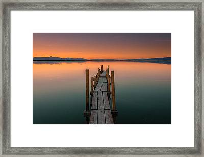 Salton Sea Dock Framed Print
