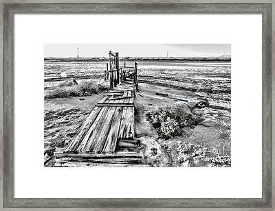 Salton Sea Dock Under Renovation By Diana Sainz Framed Print