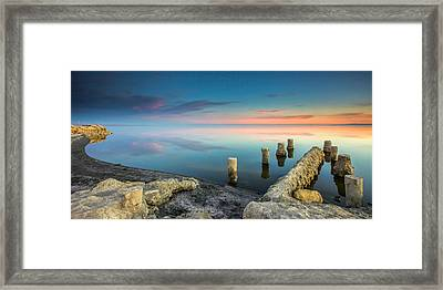 Framed Print featuring the photograph Salton Sea Reflections by Robert  Aycock