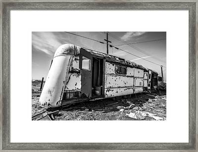 Salton Sea Trailer Framed Print by Robert  Aycock