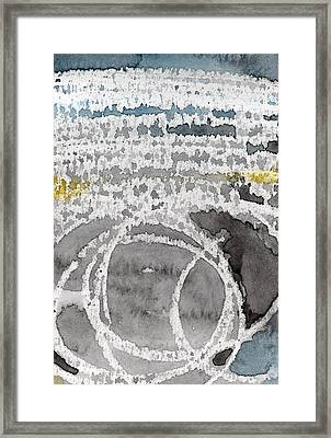 Saltwater- Abstract Painting Framed Print by Linda Woods
