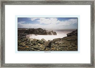 Saltwater On The Rocks 01 Framed Print by Kevin Chippindall