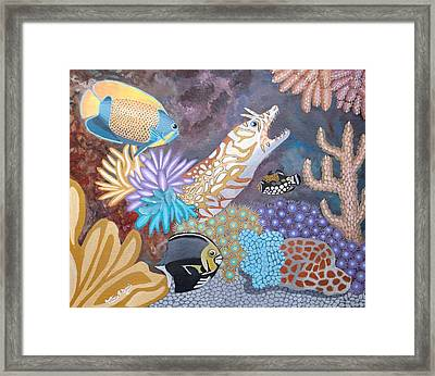 Salty Sea Framed Print by Anthony Morris