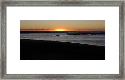 Salty Sunrise Framed Print by Luke Moore