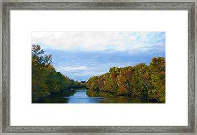 Saluda River In The Fall Framed Print by Steven Richardson