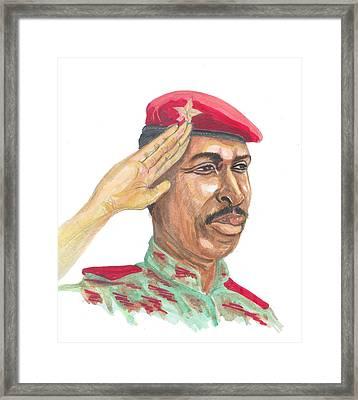 Salut Militaire Framed Print