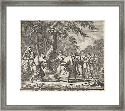 Salute Christian Travelers, Jan Luyken Framed Print