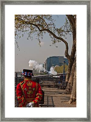 Salute For The Queen Framed Print