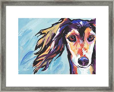 Salute The Saluki Framed Print by Lea S