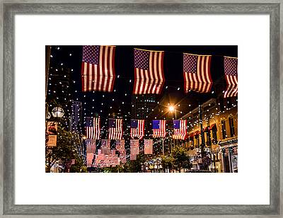 Salute To Old Glory Framed Print by Teri Virbickis