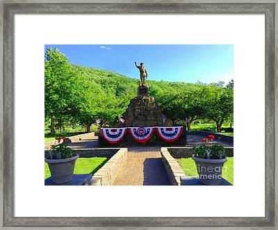 Framed Print featuring the photograph Salute To Our Hero's  by Becky Lupe