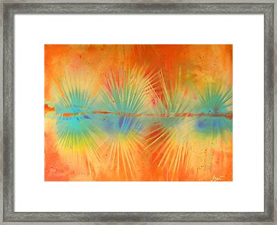 Framed Print featuring the painting Salute To The Sun by Gertrude Palmer