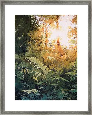 Salute To The Sun Framed Print by Kris Parins