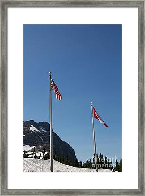 Saluting The Nations Framed Print by June Hatleberg Photography