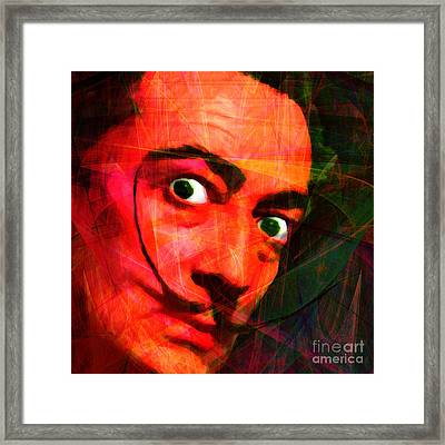 Salvador Dali 20141213 V2 Square Framed Print by Wingsdomain Art and Photography