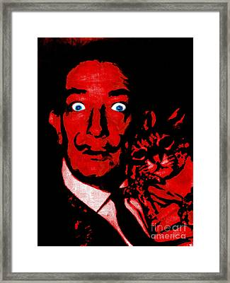 Salvador Dali And Friend 20130212v2 Framed Print by Wingsdomain Art and Photography