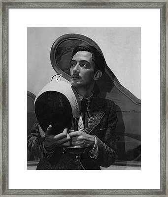 Salvador Dali Holding Fencing Equipment Framed Print by Cecil Beaton