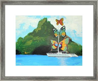 Salvador Dali Inspired Butterfly Catamaran Framed Print by Ethan Altshuler