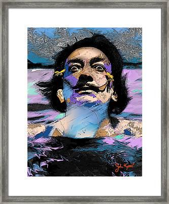 Salvador Dali Framed Print by John Keaton