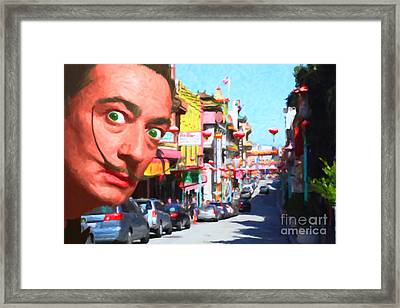 Salvador Dali Orders Take Out At San Francisco Chinatown 2014121 Framed Print by Wingsdomain Art and Photography